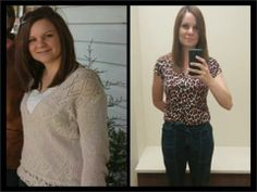 """Amber.... I finally got around to doing my final after picture for my 90 day challenge. It's amazing what a difference 17 pounds and over 21 inches makes on a 5'1"""" frame. I can only thank Skinny Fiber for the help I needed to get where I am!"""