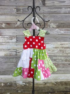 Toddler Dress PolkaDot Knotted Strap Cotton by JBCountryCouture, $40.00