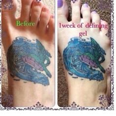 Tired of your old tattoos fading, it's time to put a stop to that! Order defining gel today! www.andyleigh05.myitworks.com