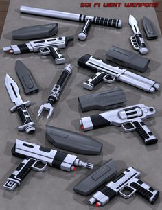 Sci Fi Light Weapons/Sidearms.
