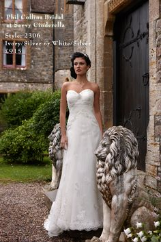 Phil Collins Bridal available from Savvy Cinderella.  Style: 2306 To buy or hire, make your appointment today. #weddingdress #philcollins #savvy #savvycinderella