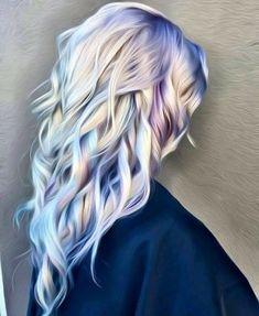 Cheveux colorés, holographique