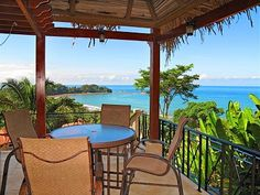 View from under the thatched palapa $1400 per week costa rica