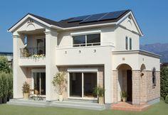 太陽光発電でエコに暮らす南欧風住宅。|南欧風住宅・プロヴァンス|