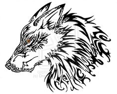 Fantasy Wolf _ tattoo by DragoNoir More