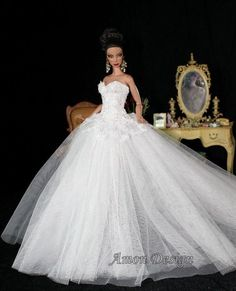 Barbie white gown