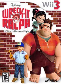 Wreck it Ralph birthday party invitation