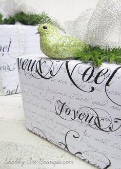 Joyeux Noel printable Christmas paper - Shabby Art Boutique