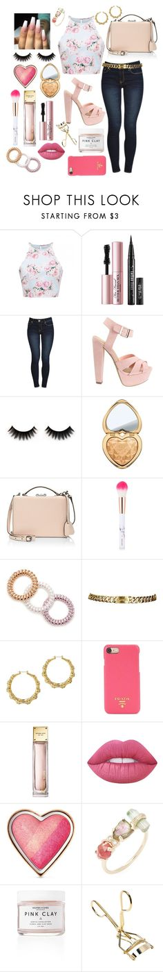 """""""all in my head"""" by crybarbietears ❤ liked on Polyvore featuring Too Faced Cosmetics, Mark Cross, Forever 21, Chanel, Prada, Lime Crime and Jacquie Aiche"""