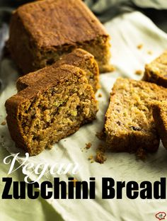 Vegan Zucchini Bread that is moist enough. It has a secret healthy ingredient that functions like egg. Noone can know that it's vegan.