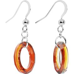 Red Magma Hollow Ring Crystal Earrings Created with Swarovski Crystals