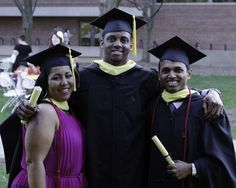 @JarrettMDrake, A. Geetey, and me at graduation at the University of Michigan School of Information.