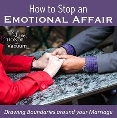 How do you stop an emotional affair? Notice the seasons that you have distance in your marriage, and be proactive. Successful Marriage Tips, Save My Marriage, Marriage And Family, Happy Marriage, Marriage Advice, Marriage Infidelity, Fixing Relationships, Relationship Rules, Healthy Relationships