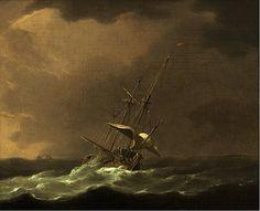 Willem van de Velde the Younger, Merchant Shipping in Rough Seas