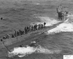 In June 1944, the U.S. Navy captured the German submarine U-505 off the coast of West Africa.  To keep the Germans from discovering their codes had been compromised, the capture was kept a secret and the crew was hidden at Camp Ruston, a prisoner of war facility in North Louisiana.  Their time is captivity is the subject of my upcoming book.  The photo shows American sailors saving the U-boat from sinking.