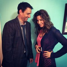 Instagram media by ralph_macchio - Some end-of-night laughs with @ginagershon on first day of #LostCatCorona film shoot!  may 2015