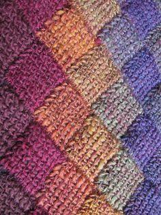 "The Kenneth St Boudoir: Tunisian Entrelac Crochet (or, ""Oh, No, Not Again! Crochet Crafts, Crochet Yarn, Easy Crochet, Crochet Things, Crochet 101, Crochet Tutorials, Crochet Projects, Tunisian Crochet Patterns, Crochet Afghans"