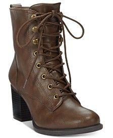 American Rag Laina Block-Heel Combat Booties, Only at Macy's