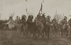 Untitled (Native Americans wearing headdresses on horseback) 1910 by Museum of Photographic Arts Collections, via Flickr