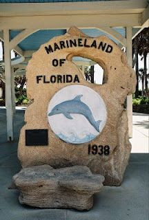 "Marine Land sign [located between St. Augustine and Daytona] Just drove by 5-10-14 and they are creating a lovely new entrance. Have a wonderful ""swim with the dolphins"" experience, too."