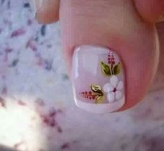 Pedicure Designs, Pedicure Nail Art, Toe Nail Designs, Acrylic Nail Designs, Pretty Toe Nails, Cute Toe Nails, My Nails, Toe Nail Color, Toe Nail Art