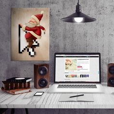 by Giordano Aita santa claus native father christmas xmas online arrow gift shopping Paintings