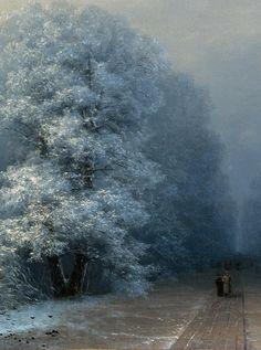 Ivan Konstantinovich Aivazovsky - Winter landscape (1876)