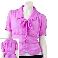 Candie's tie front blouse