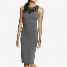 EMBELLISHED Midi dress NWOT, KNITTED BODYCON DRESS. EXTREMELY SEXY ON AND IN EXCELLENT CONDITION BECAUSE IT WAS NEVER WORN, ONLY TRIED ON. Express Dresses Midi