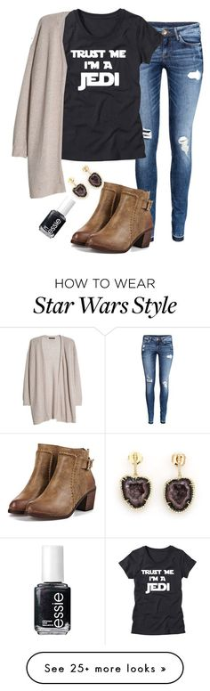 """When your dad is a nerd and makes you watch Star Wars"" by madelyn-abigail on Polyvore featuring H&M, MANGO, Kimberly McDonald and Essie"