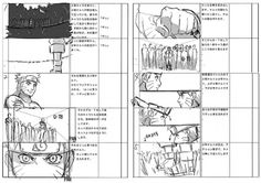 Storyboard of the opening of this work