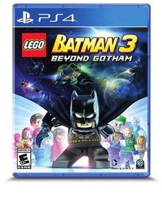 Platform: PlayStation 4 The best-selling LEGO Batman videogame franchise returns in an out-of-this-world, action-packed adventure! In LEGO Batman 3: Beyond Gotham, the Caped Crusader joins forces with the super heroes of the DC Comics universe and blasts off to outer space to stop the evil Brainiac from destroying Earth.