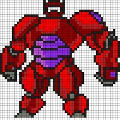 Big Hero 6 Baymax Perler Bead Pattern