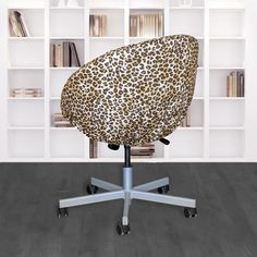 IKEA SKRUVSTA Chair Slip Cover, Leopard Cheetah Brown | affordable, designer, custom, handmade, trendy, fashionable, locally made, high quality Ikea Office Chair, Beautiful Cover, Slipcovers For Chairs, Seat Cushions, Cheetah, Brown, Handmade, Design, Bench Seat Cushions