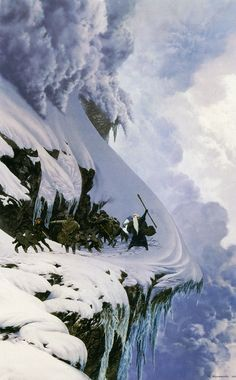 The Anger of the Mountain by Ted Nasmith- I'm always amazed by how these artists give life to such abstract scenes