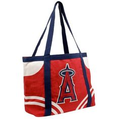 """MLB Los Angeles Angels Canvas Tailgate Tote by Pro-FAN-ity by Littlearth. Save 48 Off!. $10.41. Littlearth's Officially Licensed Canvas Tailgate Tote is great at the beach, on day trips or a quick weekend bag! Measuring 15.5"""" Length x 6"""" Width x 13.5"""" Height this large heavy tote is the perfect bag for your tailgating party. Made of 100% Cotton this 14oz canvas features over-sized team logo in center front of tote. Tote is Team color knit cotton canvas with contrasting accents and handle…"""