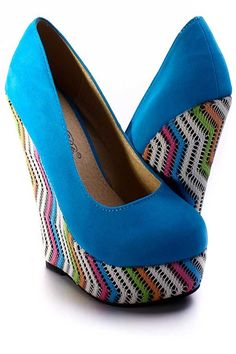 Turquoise Wedges! so fun!
