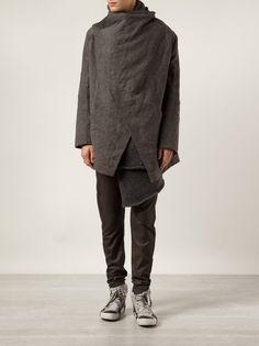 ISABEL BENENATO - Knit-Lined Asymmetric Jacket.