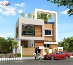 Small house front front house design small house elevation modern homes exterior designs small house front . House Front Design, Modern House Design, Door Design, Exterior Design, Beautiful Small Homes, Small Modern Home, Modern Homes, Front Elevation Designs, House Elevation