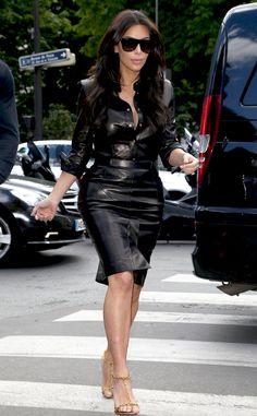 Kim Kardashian's leather dress is pre-wedding shopping perfection!