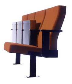 """Piku- first edition auditorium seating """"This seat requires the very minimum amount of space between the seat rows which means that it creates space & saves space."""""""