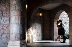 Sleeping Beauty's Castle - Disneyland Engagement Photos: Sharon + Jeff
