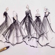 wish I knew who the artist is...thought Katie Rodgers of Paper Fashion, but on…