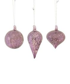 Purple Ornament Set