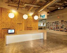 industrial office space design wood metal - Google Search