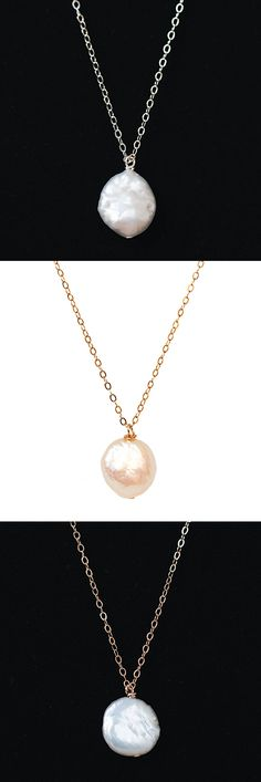 Freshwater coin pearl necklace in silver, yellow gold, or rose gold. Most popular jewelry roundup for by jewelry artisan Alison Jefferies of J'Adorn Designs. Bridesmaid Jewelry, Bridesmaid Gifts, Wedding Jewelry, Or Rose, Rose Gold, Hippie Bride, Modern Groom, Fall Wardrobe Essentials, Outdoor Wedding Inspiration