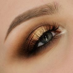 This 'Warm Smokey Eye' look by havsvind incorporates Makeup Geek eyeshadows in Ice Queen and Magic Act