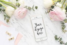 iPhone styled stock mockup by Miss Ollie on /creativemarket/