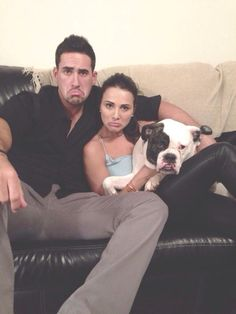 """""""The family that frowns together stays together"""" andi dorfman and josh Murray"""
