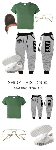 """""""Untitled #48"""" by trillqueen34 ❤ liked on Polyvore featuring RE/DONE and Puma"""